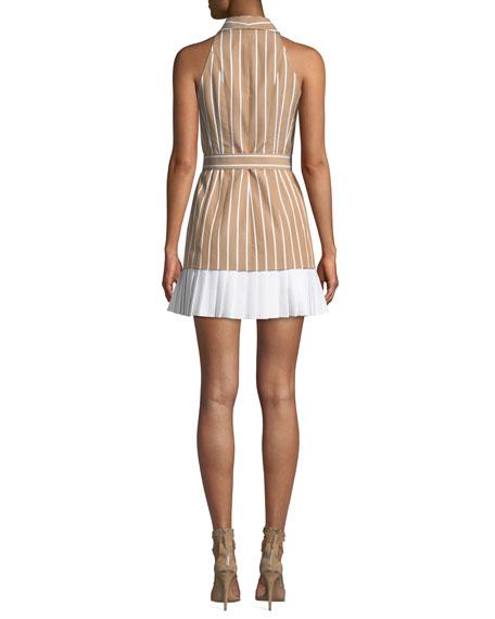 Carmona Striped Belted Short Dress