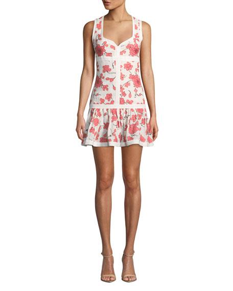 Lilou Sleeveless Floral Short Dress