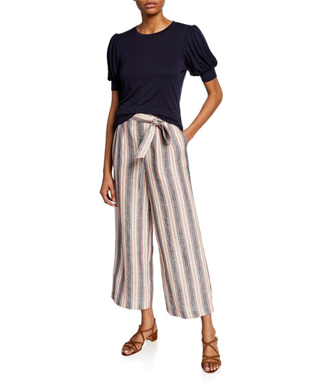 Striped Clean Linen Pants