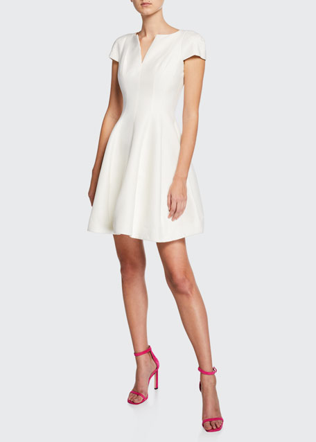 Halston Heritage Maggie Short Fit-&-Flare Dress