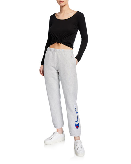 Pull-On Terry Logo Sweatpants