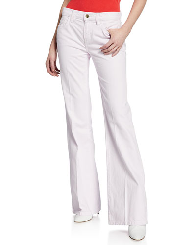 The Wray Mid-Rise Wide-Leg Jeans