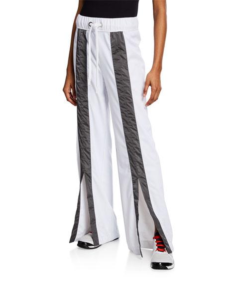 No Ka'oi Pants KIMI SPLIT-FRONT DRAWSTRING TRACK PANTS