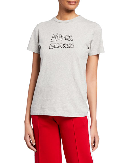 Bella Freud T-shirts SUPER CHARGE GRAPHIC T-SHIRT