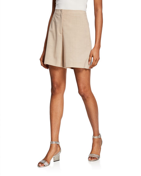 Lafayette 148 New York Ryerson Double-Face Wool-Blend Shorts