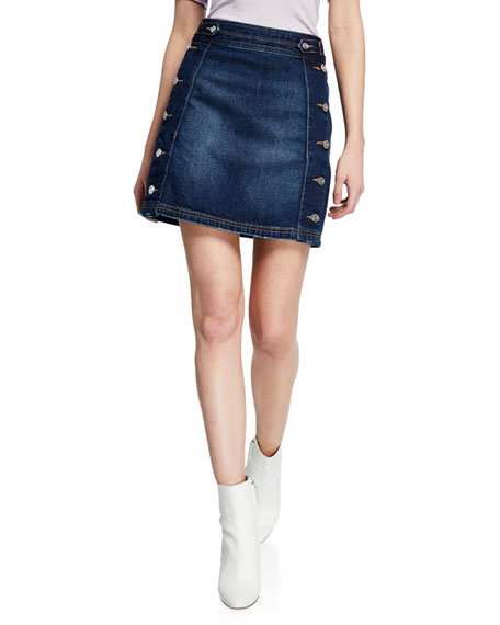Current Elliott Skirts THE BALLAST DENIM SKIRT W/ BUTTONS
