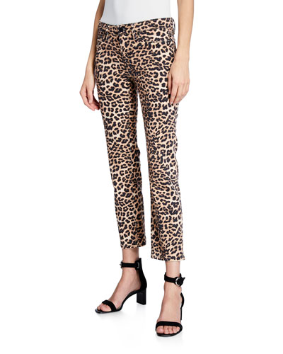 Nico Mid-Rise Printed Cigarette Jeans