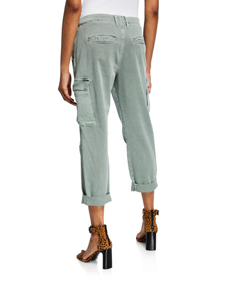 Jane Cropped Military Cargo Pants