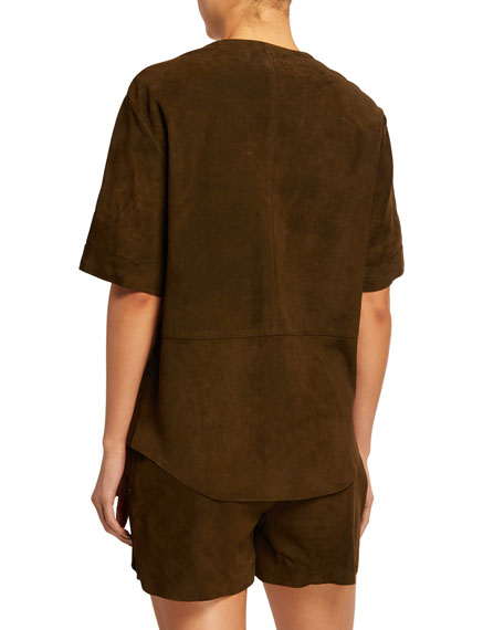 Walking Suede Patch-Pocket Tunic