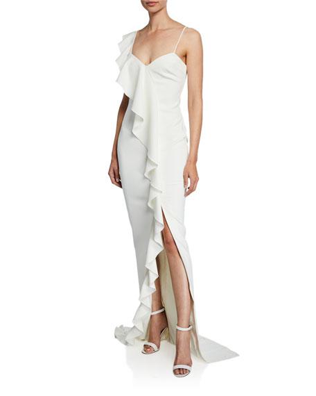Likely Kilkenny Sleeveless Asymmetric Ruffle Gown