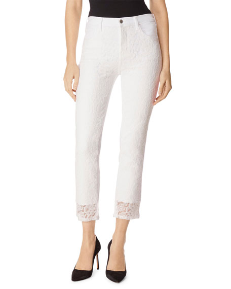 J Brand Ruby Front Lace Cropped Pants