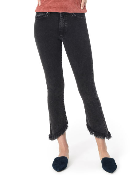 Joe's Jeans Jeans Callie Cropped Boot-Cut Frayed Jeans, AUDREY