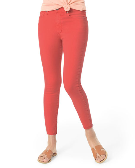 Joe's Jeans Tops THE ICON MID-RISE CROP SKINNY W/ RAW HEM