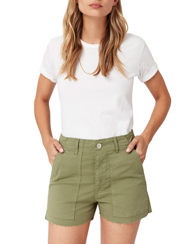 Simone Raw-Edge Shorts