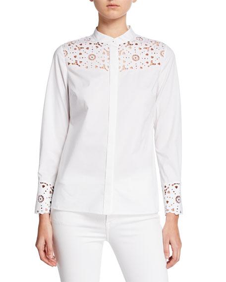 Zila Paneled Lace Shirt