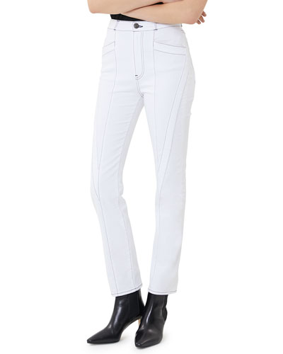 W4 Paneled High-Rise Straight-Leg Jeans