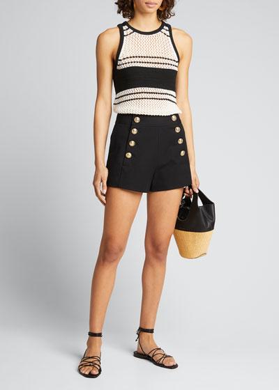 Sailor Shorts with Button Details