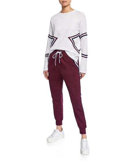 Alpha Cropped Side-Stripe Jogger Pants