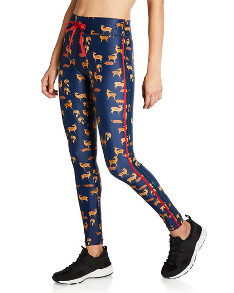 The Upside Pants DEER-PRINT DRAWSTRING YOGA PANTS