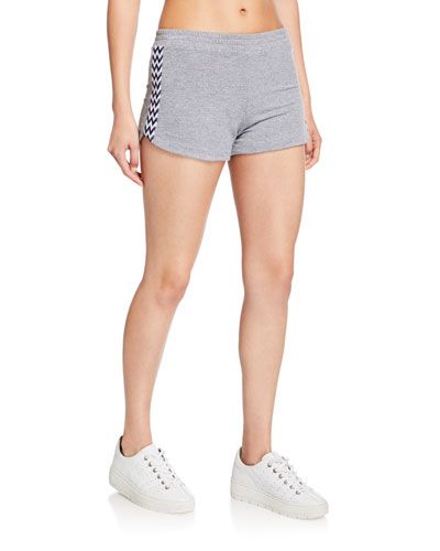 Low-Rise Lounge Shorts w/ Zigzag Trim