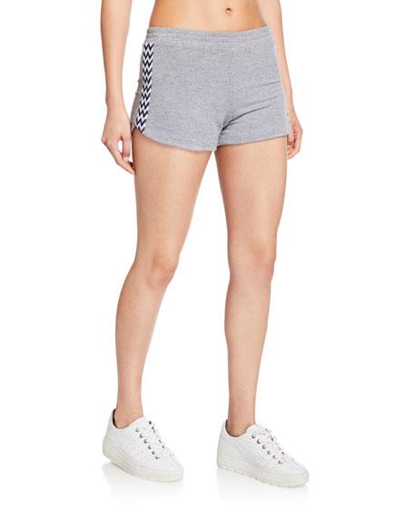 Low-Rise Lounge Shorts w/ Zigzag Trim
