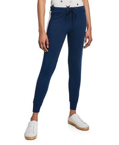 Star Elastic Side-Stripe Drawstring Skinny Sweatpants