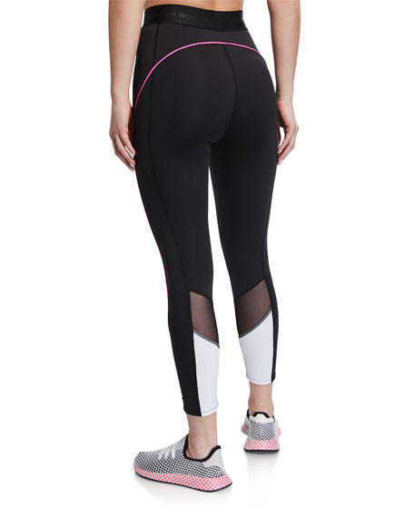 mesh inset active leggings