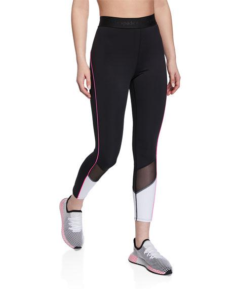 fb2109903565 kate spade new york mesh inset active leggings