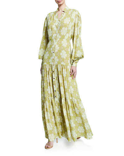 Asim Printed Button-Front Maxi Dress Quick Look. Alexis 082c8dd95