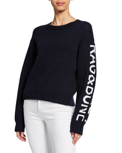Rayland Chunky Pullover w/ Logo Lettering
