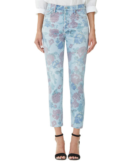 Citizens Of Humanity  OLIVIA CROP HIGH-RISE SLIM JEANS