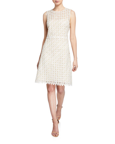 Elie Tahari Rosaleen Woven Sleeveless Dress