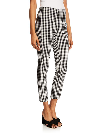 Elie Tahari Jessalyn Slim Gingham Ankle Pants