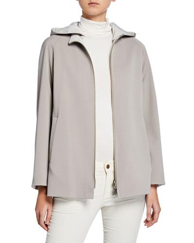 6c692336781 Reversible Wool Jacket w  Detachable Hood Quick Look. Cinzia Rocca