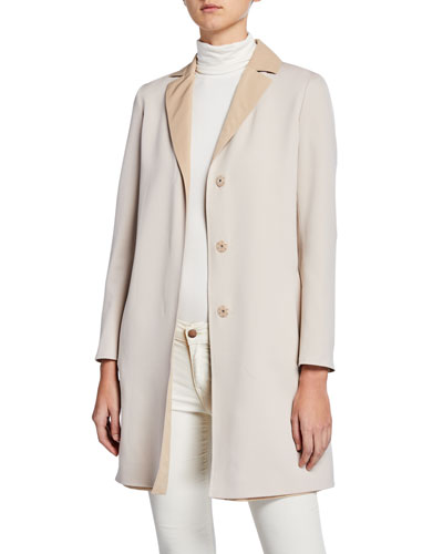 7a4af6abe36 Reversible Wool Top Coat Quick Look. Cinzia Rocca