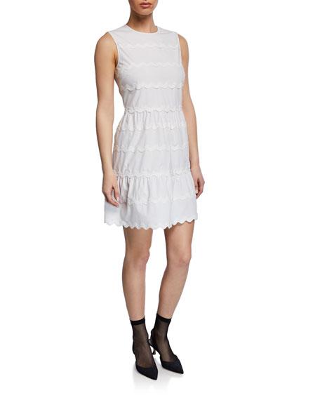 Sleeveless Scallop Cotton Dress