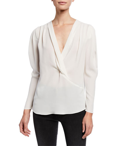Batcha V-Neck Long-Sleeve Top