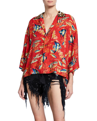 Oversized Hawaiian Shirt