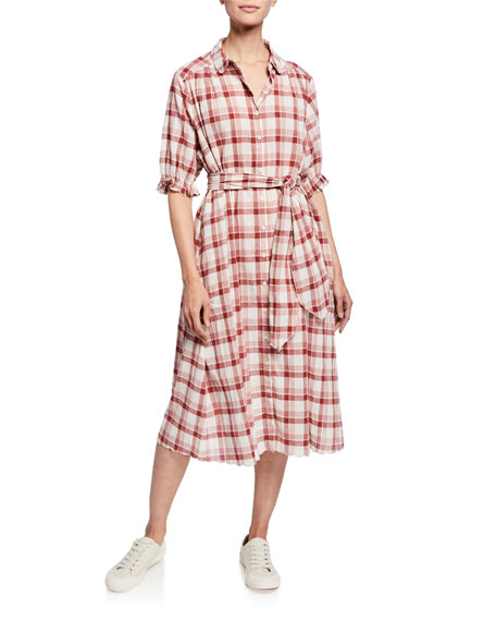 The Great Dresses THE SCALLOP PLAID KERCHIEF DRESS