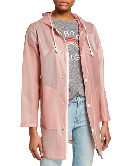 Mother Coats HOODED SNAP-FRONT RAINCOAT