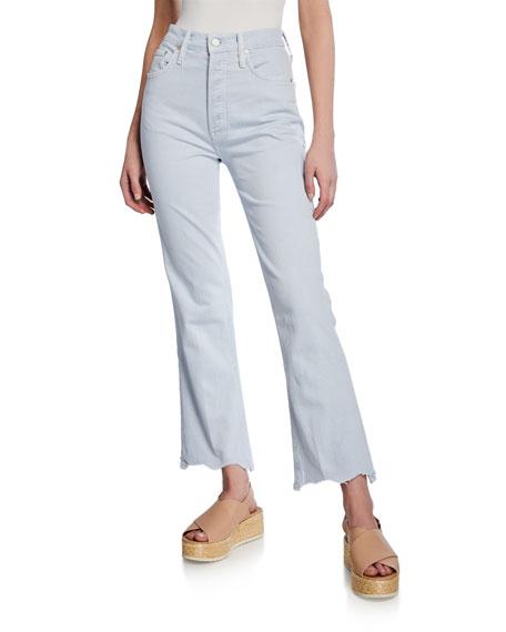 The Tripper High-Rise Jeans w/ Chewed Hem