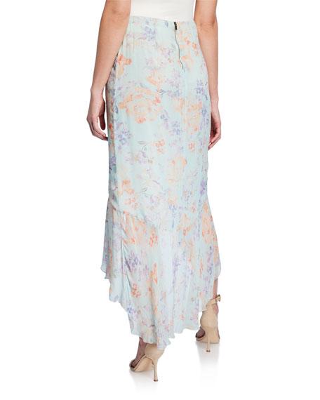 Caily Ruffled Mock Wrap Skirt