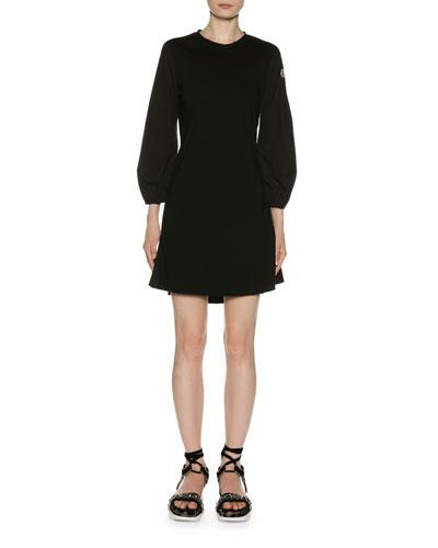 Logo-Sleeve Short Dress