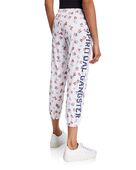SGV Logo Floral-Print Perfect Sweatpants
