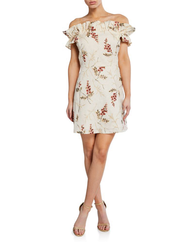 787f5215de1107 Promotion Ivie Off-Shoulder Embellished Dress Quick Look. Rebecca Taylor