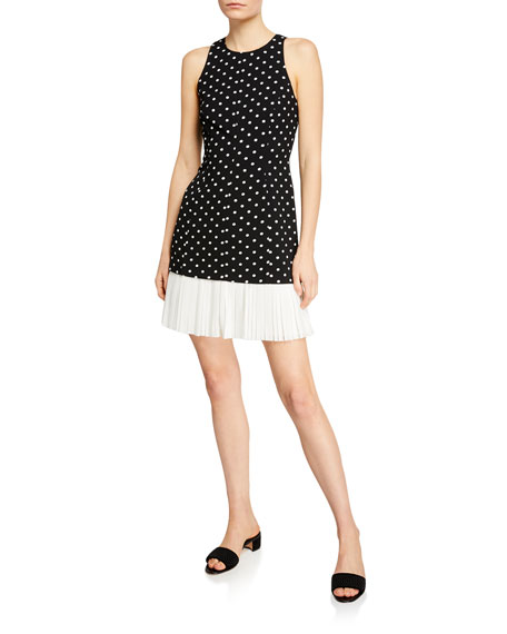 cinq a sept Catriona Dotted Crepe Dress w/
