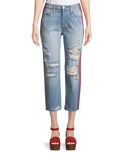 Thrasher Wide-Leg Jeans with Side Stripe
