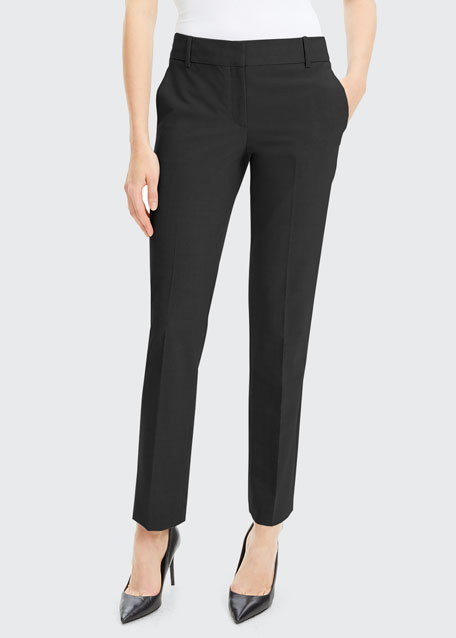 Straight-Leg Good Wool Suiting Trousers