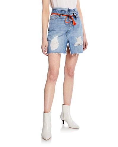 Sloane High-Rise Denim Skirt