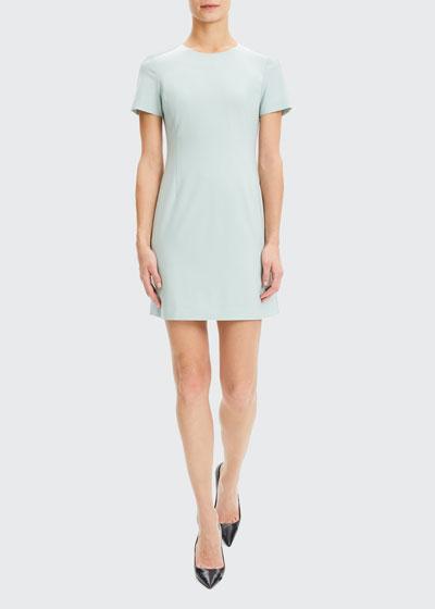 Jatinn Short-Sleeve Traceable Wool Dress